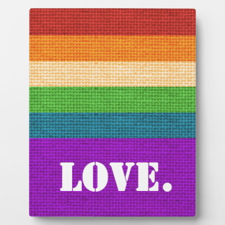LGBT Love Plaque