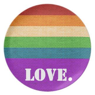LGBT Love Plate