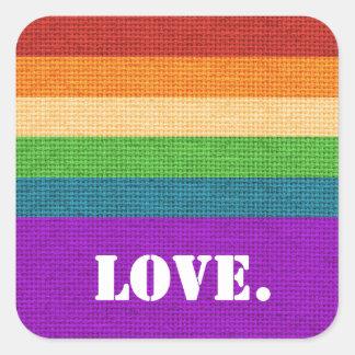 LGBT Love Square Sticker