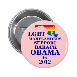 LGBT Marylander for Obama 2012 2 Inch Round Button