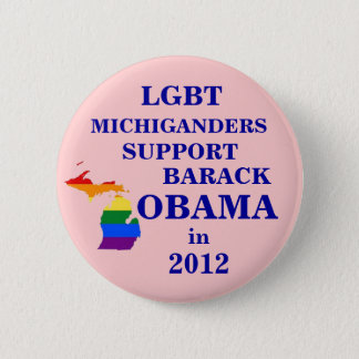 LGBT Michiganders for Obama 2012 2 Inch Round Button