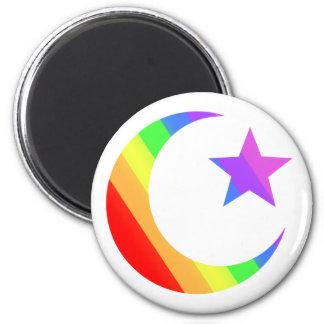 LGBT Muslim 2 Inch Round Magnet