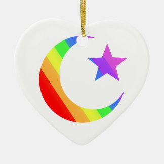 LGBT Muslim Ceramic Heart Ornament