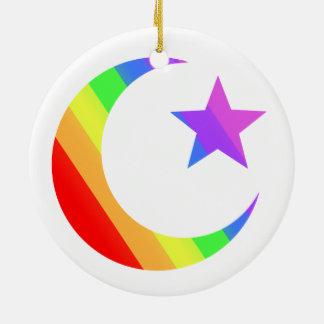 LGBT Muslim Round Ceramic Ornament