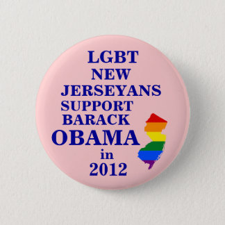 LGBT New Jerseyans for Obama 2012 2 Inch Round Button