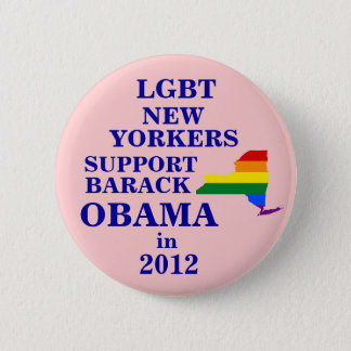 LGBT New Yorkers for Obama 2012 2 Inch Round Button
