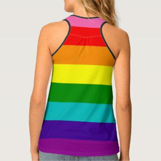 LGBT Original 8 Stripes Rainbow Flag Gay Pride Tank Top