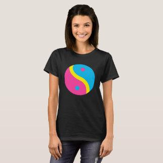 LGBT Pansexual Pride Flag Colors Yin Yang T-Shirt