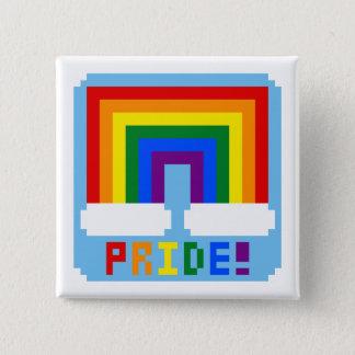 LGBT+ Pixel Pride 2 Inch Square Button