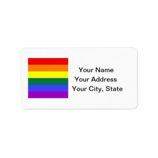 LGBT Pride Address Label Sheet