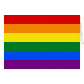 LGBT pride flag Card