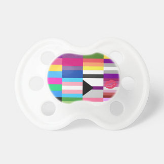 LGBT Pride Flag Collage Pacifier