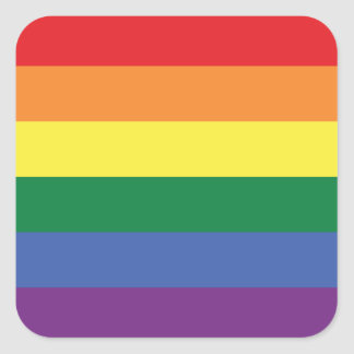LGBT | Pride Flag Design | Stripes | Square Sticker