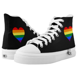 LGBT pride heart High Tops