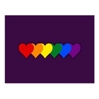 LGBT pride hearts Postcard