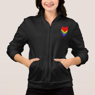 LGBT pride hearts Zip Jogger