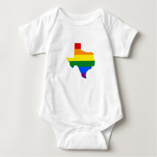LGBT pride map of Texas Baby Bodysuit