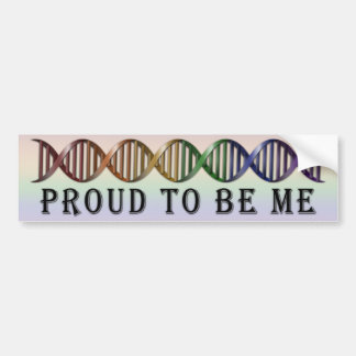 LGBT Pride Rainbow DNA Bumper Sticker