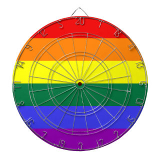 LGBT Pride Rainbow Flag Dart Boards