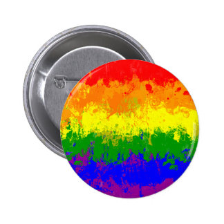 LGBT Pride Rainbow Flag Paint Splatter Button