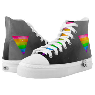 LGBT Pride Rainbow Triangle Galaxy High Tops