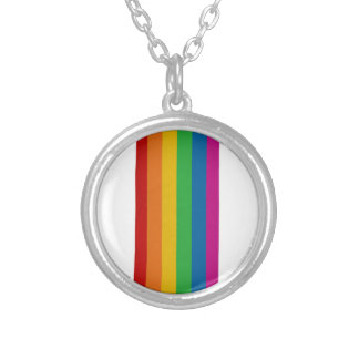 LGBT pride Silver Plated Necklace