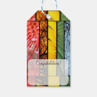 LGBT Pride Symbol Nature Rainbow Personalized Pack Of Gift Tags