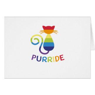 LGBT Purride  Gay Lesbian Pride Cat  Funny Gift Card