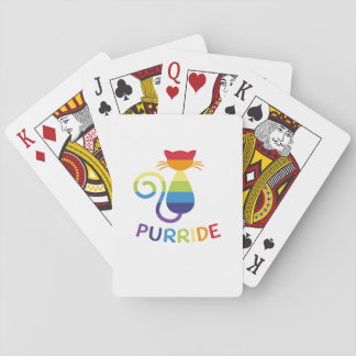 LGBT Purride  Gay Lesbian Pride Cat  Funny Gift Playing Cards