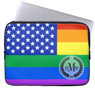 LGBT Rainbow American Flag Computer Sleeves