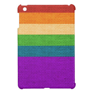 LGBT Rainbow Burlap iPad Mini Cases