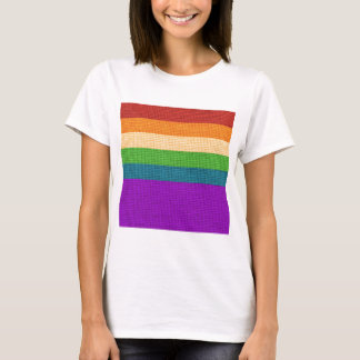 LGBT Rainbow Burlap T-Shirt