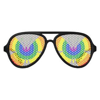 LGBT Rainbow Butterfly Aviator Sunglasses