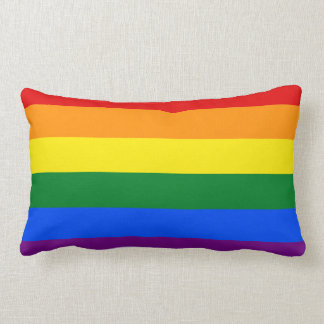 LGBT Rainbow Flag Lumbar Pillow