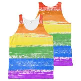 LGBT RAINBOW FLAG PAINT All-Over-Print TANK TOP