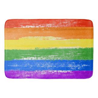 LGBT RAINBOW FLAG PAINT BATHROOM MAT