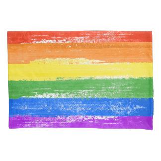 LGBT RAINBOW FLAG PAINT PILLOWCASE
