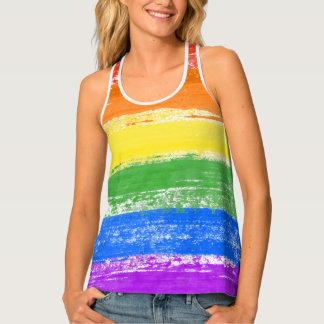 LGBT RAINBOW FLAG PAINT TANK TOP