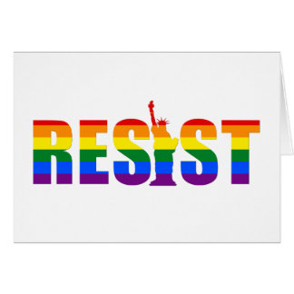LGBT Rainbow Flag Resist Gay Pride Equal Rights Card