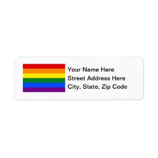 LGBT Rainbow Flag Return Address Label