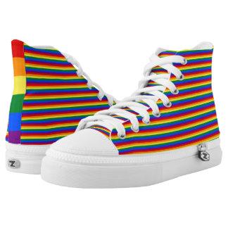 LGBT Rainbow Flag Stripes Pattern Gay Pride High Tops