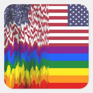 LGBT Rainbow Flag with Sun Stickers