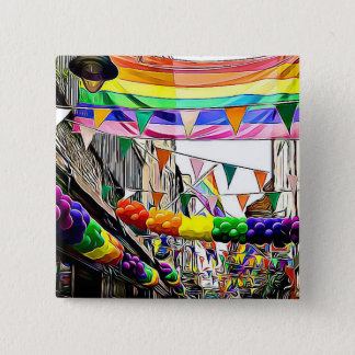 LGBT Rainbow Flags Parade or Rally Button