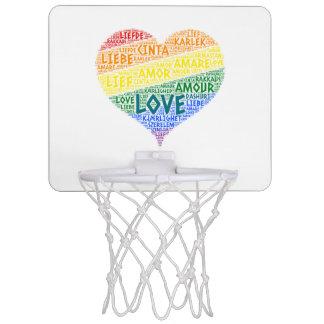 LGBT Rainbow Hearth Flag illustrated with Love Mini Basketball Hoop