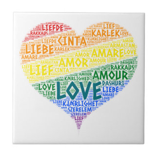 LGBT Rainbow Hearth Flag illustrated with Love Tile
