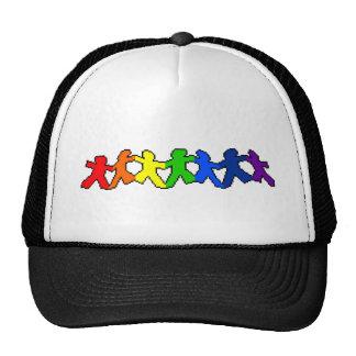 LGBT Rainbow Paper Dolls Trucker Hat