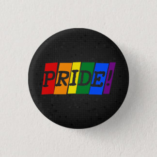 LGBT rainbow pride black button