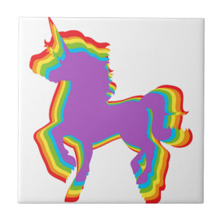 LGBT Rainbow Unicorn Ceramic Tiles