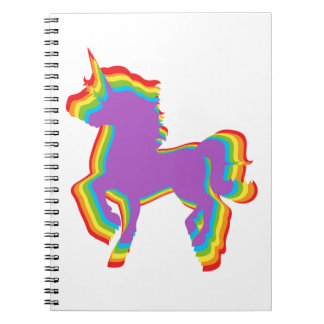 LGBT Rainbow Unicorn Notebook