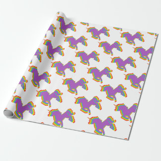 LGBT Rainbow Unicorn Wrapping Paper